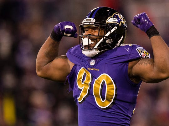 Za'Darius Smith's career-high 8.5 sacks led the Ravens last season.