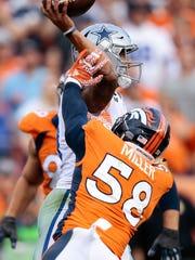Denver's Von Miller can wreck a game plan, said Sean McDermott.