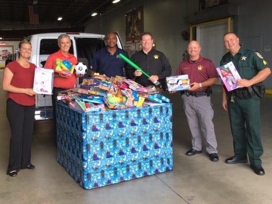 Toys collected by staff of Southern Eagle Distributing