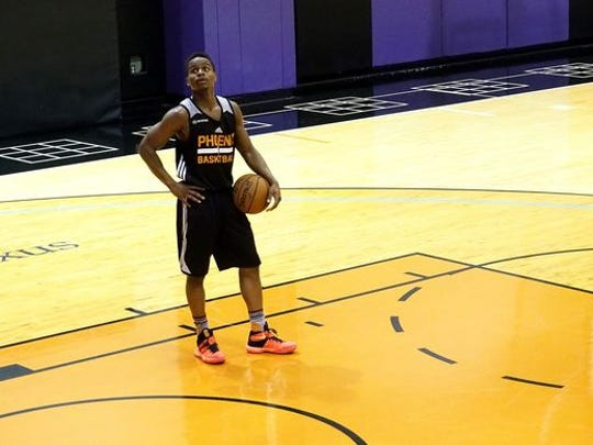Yogi Ferrell during a workout for the Suns, May 20, 2016.