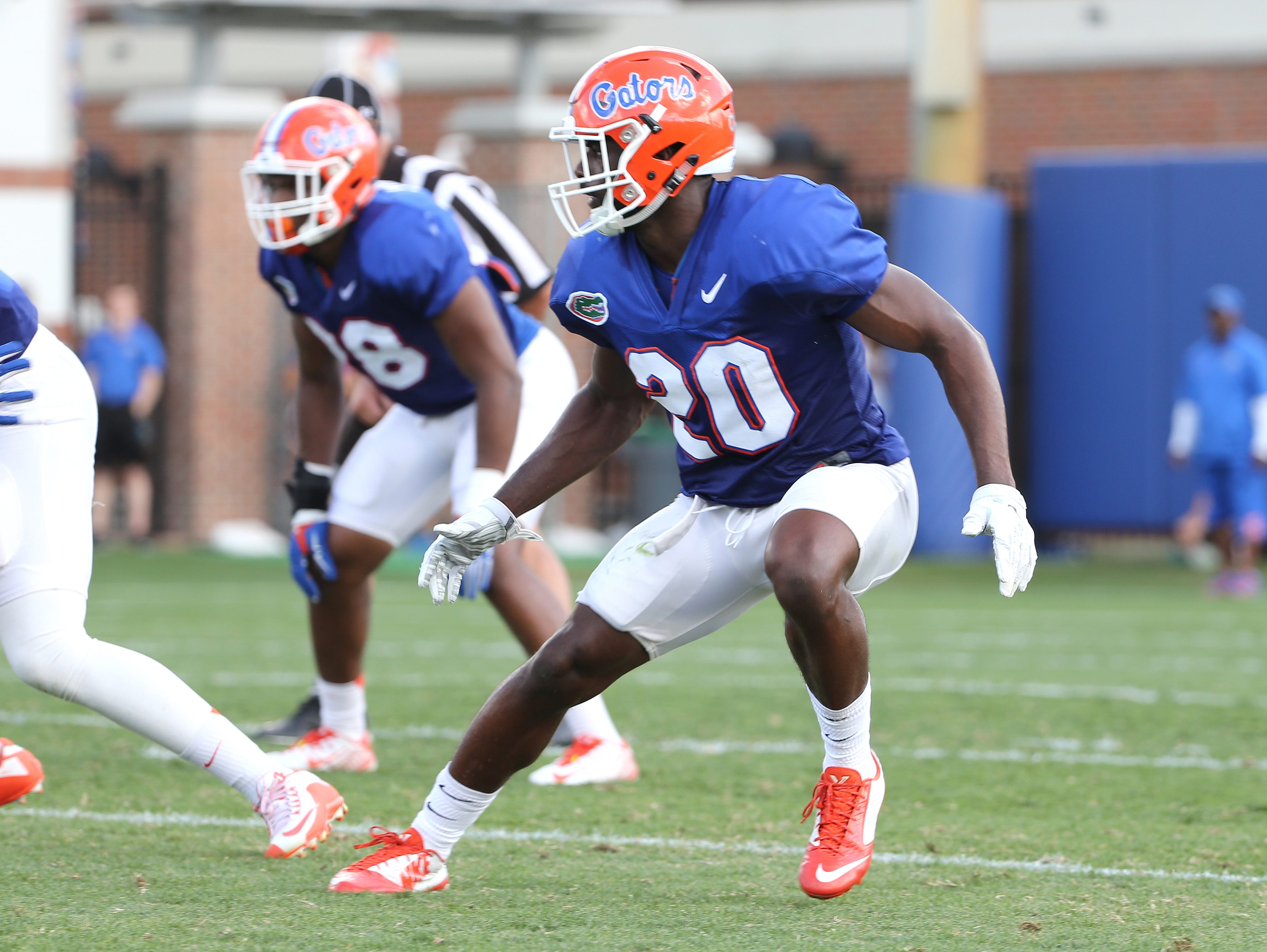 Marcus Maye will lead the University of Florida's defense into the spring game on Friday night.