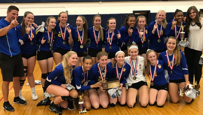 Irondequoit's won its first girls volleyball title since it won states in 2008. The Eagles had lost three of the last four title matches to Pittsford Sutherland but won 25-6, 25-17 and 25-19 on Saturday night.
