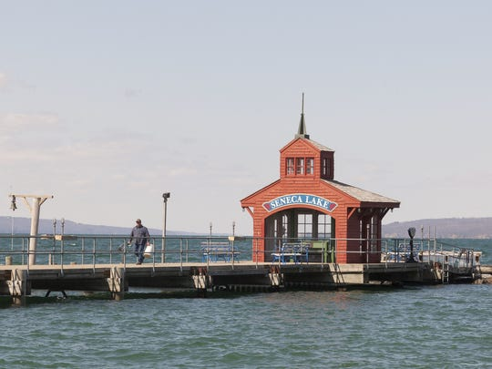 The Watkins Glen pier offers angling access far into