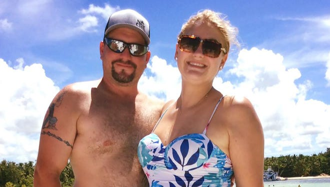 Andrea and Roger Miller, of Fairview, pause for a photo on Monday will vacationing in Punta Cana. They and four other couples are going to ride out Hurricane Irma in Santo Domingo, Dominican Republic.