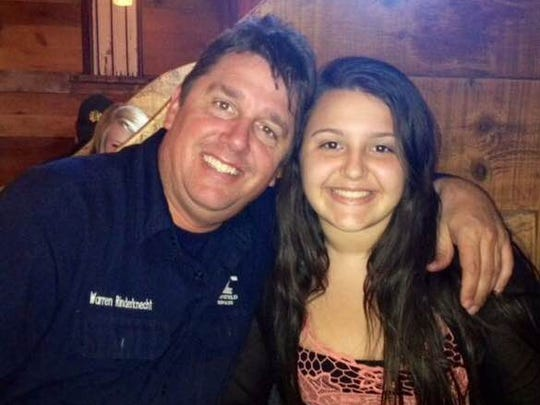 Sabrina Rinderknecht, 17, said her dad, Warren, has