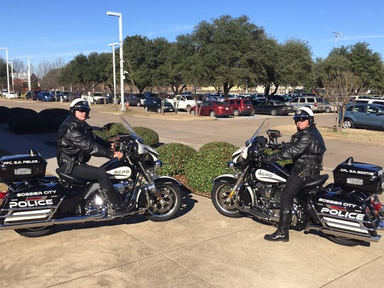 New Bossier City Police Department motorcycles hit