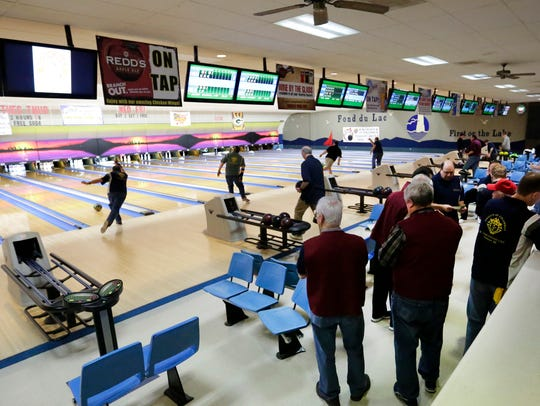 Bowlers compete in the Knights of Columbus State Bowling
