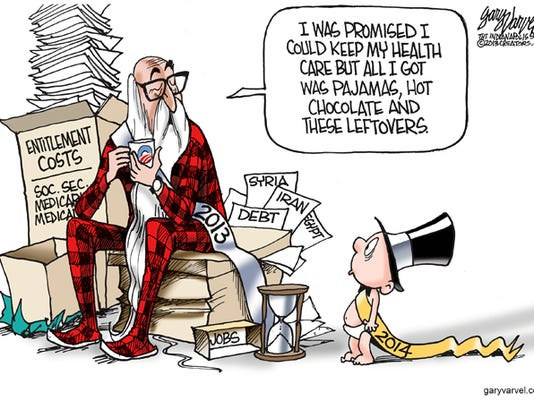 Cartoonist Gary Varvel: 2013 Promises and baby New Year