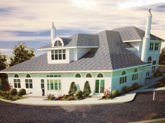 A rendering of the proposed mosque for the Liberty Corner section of Bernards.