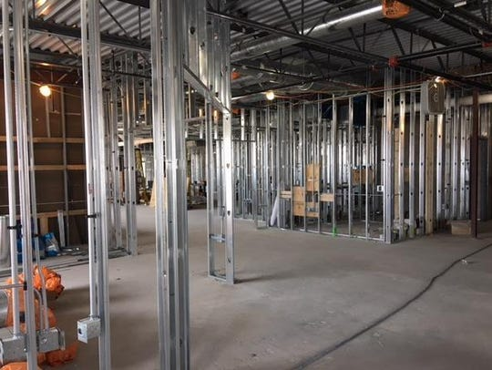 Metal framing is 75 percent completed at Oconomowoc