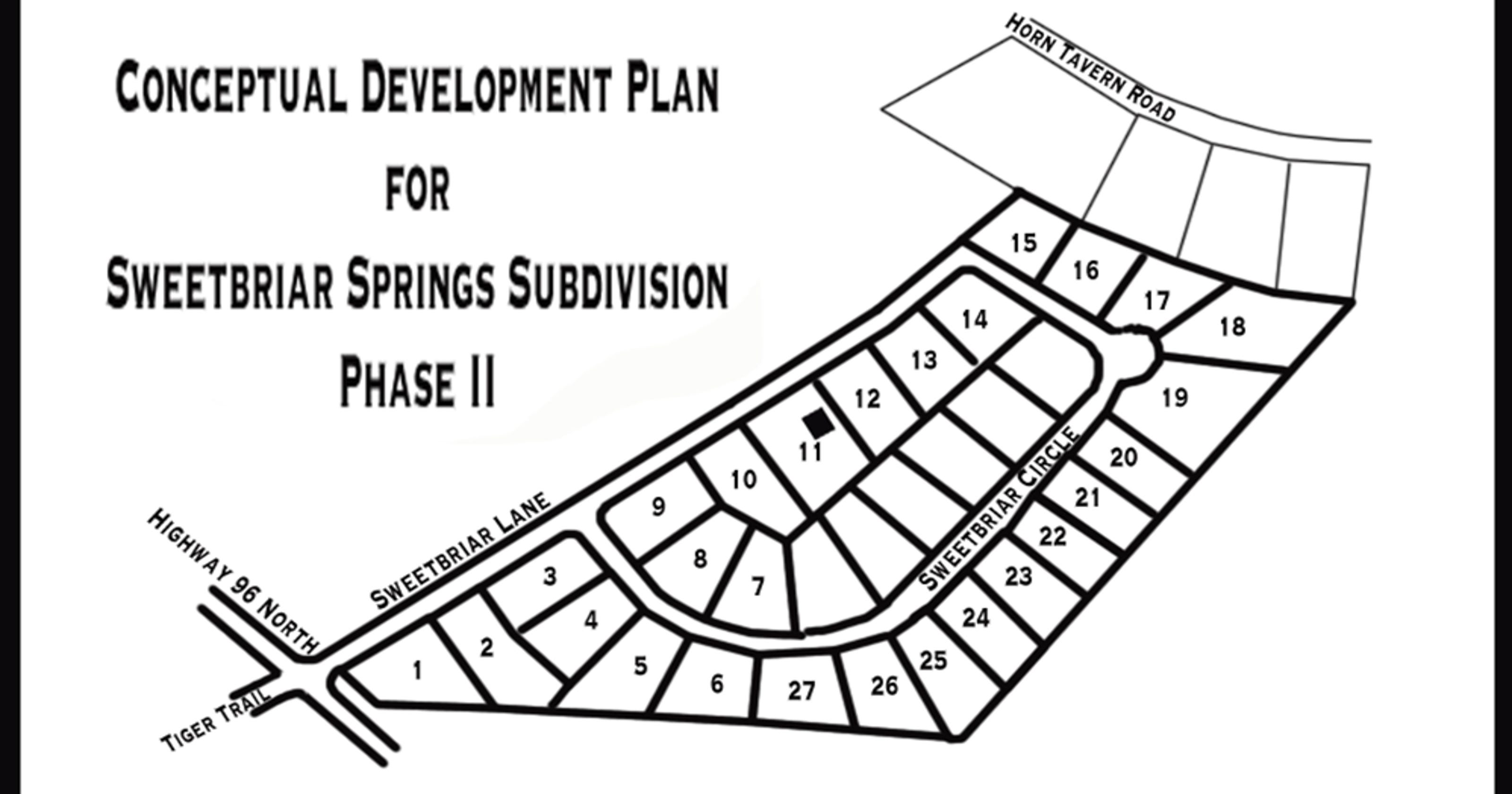 fairviews sweetbriar springs subdivision to see phase ii