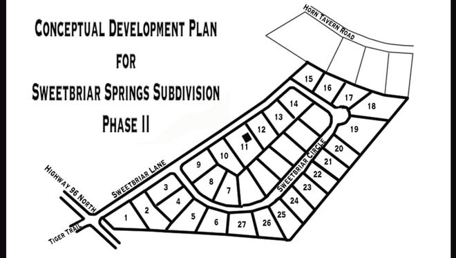 Phase II of Sweetbriar Springs Subdivision was approved by the Fairview Planning Commission with some contingencies.