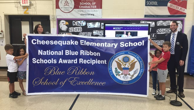 Cheesequake Elementary School receives National Blue Ribbon honors.