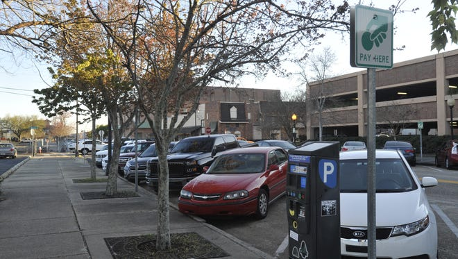 Parking in downtown Pensacola.