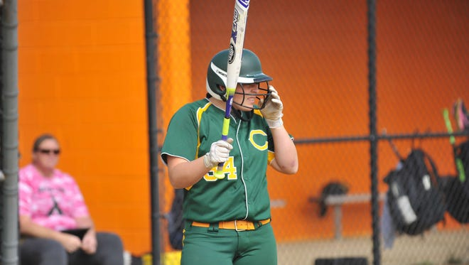 Clearview's Elaina Hansen (34) steps up to bat against Cumberland Regional, Monday, May 2, 2016 in Upper Deerfield.