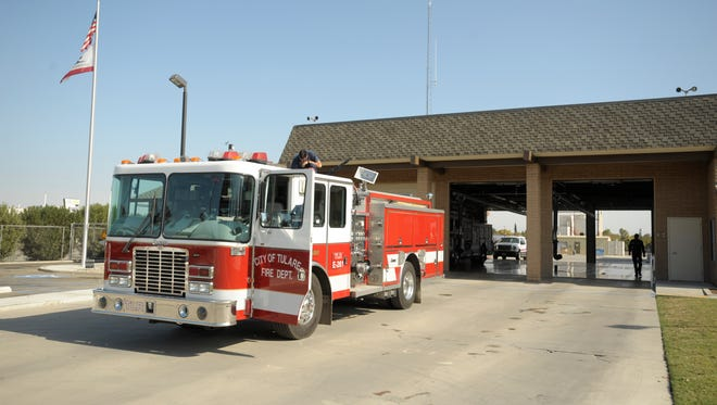 City of Tulare Fire Station 61 is located at 800 S. Blackstone St.