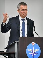 Jens Stoltenberg, Secretary General of NATO, speaks