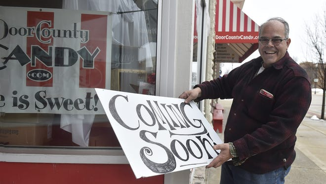 Terry Ullman, owner of Door County Candy, 12 N. Third Ave., Sturgeon Bay, is planning to open the expanded store and candy making in May after acquiring the business next door. The company will focus as a Sturgeon Bay destination with different candy themed areas of the business inside the store.