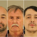 From left to right: Jered Andrus, Dan Barnes, Jacob Cassiday and Zachary Snoeyink. Each is charged with accosting a minor for immoral purposes. Photos of others -- Brett Chaffin, Phillip Crawford and Aaron Russell -- were not immediately available.