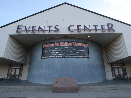 """VICTOR CALZADA-EL PASO TIMES The Rhinos play at the Events Center at the El Paso County Coliseum."""