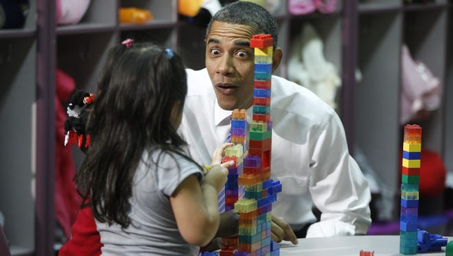 President Obama visits a Head Start center in Yeadon, Pa., in 2011.