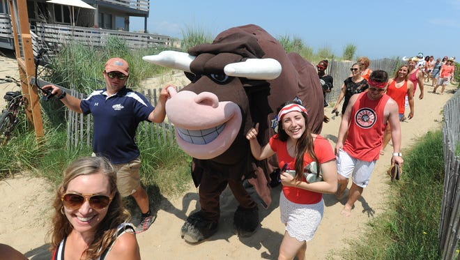 The annual Running of the Bull takes place at the Starboard in Dewey Beach.