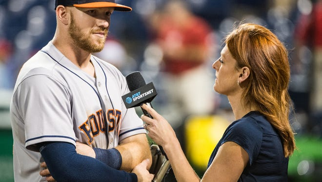 Cedar Crest grad and Houston Astros World Series champion Derek Fisher, left, will return to Lebanon County on Saturday to greet fans and sign autographs from 11 a.m. to noon at Fairview Golf Course.