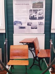 A display explains the history of education in Everglades City at the Museum of the Everglades on Tuesday, Aug. 2.