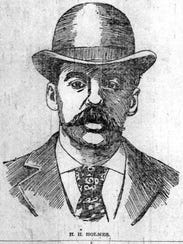 Dr. H.H. Holmes in August 1895.