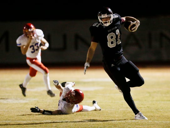 Oklahoma tight end Mark Andrews had a standout career as a wide receiver at Scottsdale Desert Mountain.