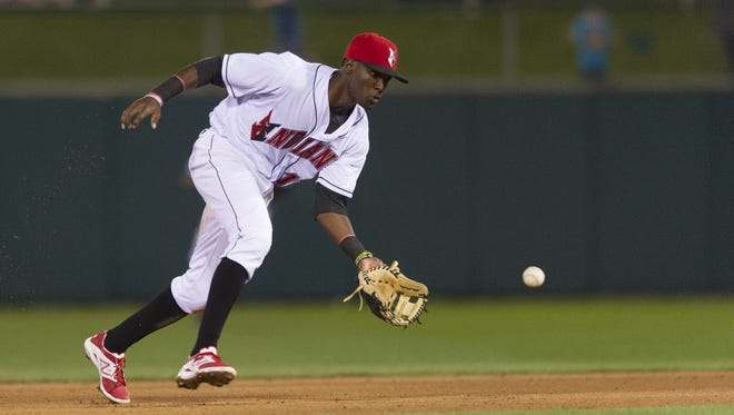 Indianapolis Indians second baseman Alen Hanson collected seven hits in Saturday's doubleheader against Columbus.