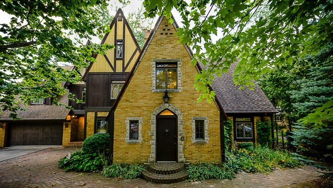 """An English Tudor home at 504 S. Mead St. Tuesday, Aug. 8, 2017 in St. Johns is going on the auction block. Auctioneer Brad Stoecker says of the home: """"It is very, very unique."""""""