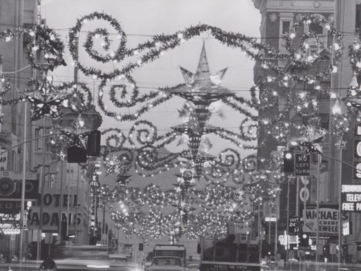 Holiday decorations in downtown Phoenix on November