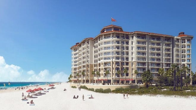 Beach view of the proposed new condos in Perdido Key.