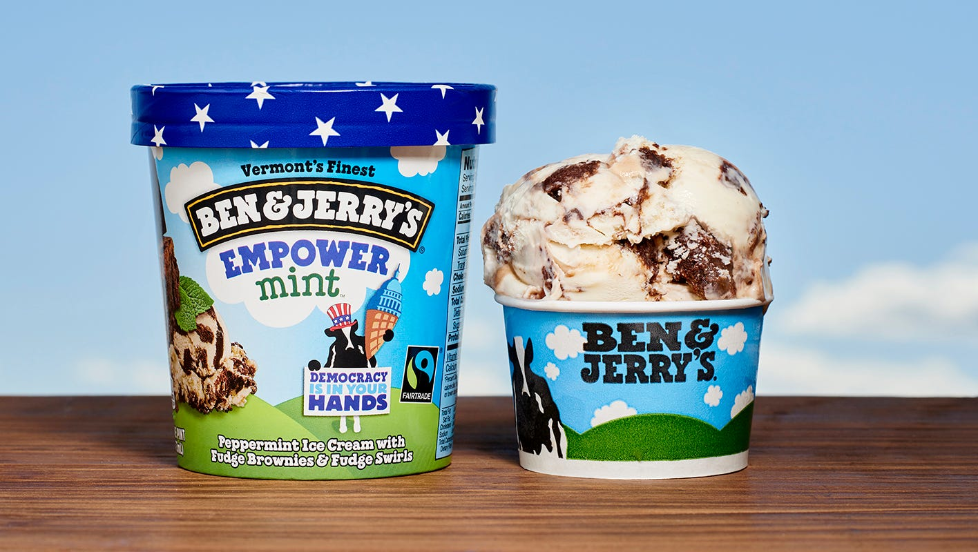 Ben & Jerry's new ice cream flavor packs the politics
