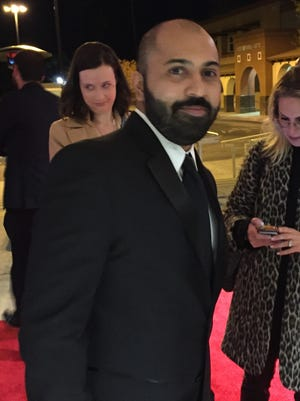 """""""The Sense of an Ending"""" director Ritesh Batra arrives for the world premiere of his film Thursday at Palm Springs High School."""