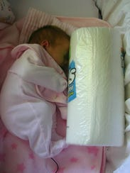 Lydia Johnson as an infant at St. Cloud Hospital.