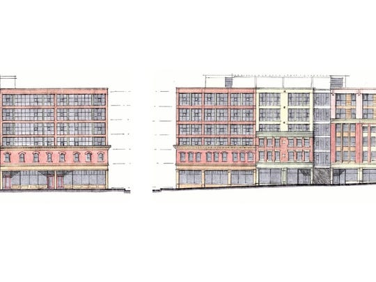 A modernist overbuild approach to the block.