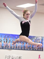 Jessica Weak, shown from a 2015-16 girls gymnastics