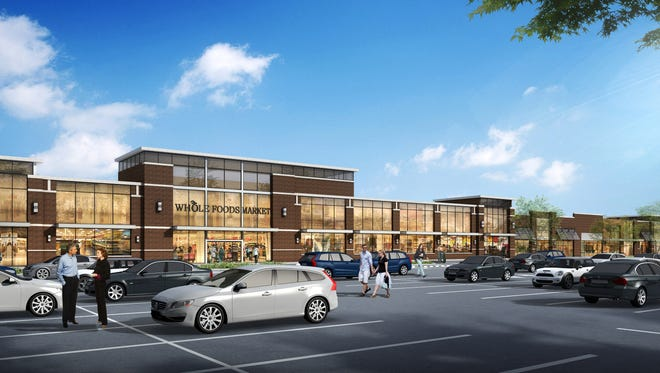 A rendering of the Waterview Marketplace Shopping Center in Parsippany, future home of Shake Shack