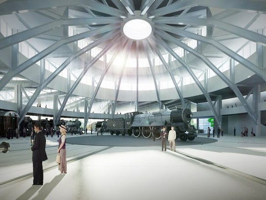 An architectural rendering of the interior of the planned