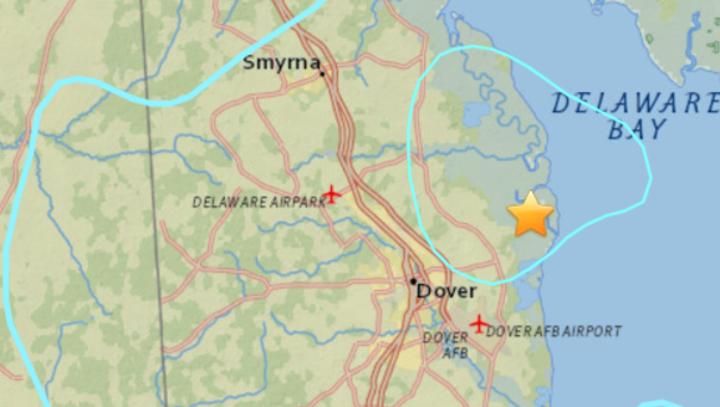 USGS: Delaware wins U.S. earthquake contest ... for Thursday