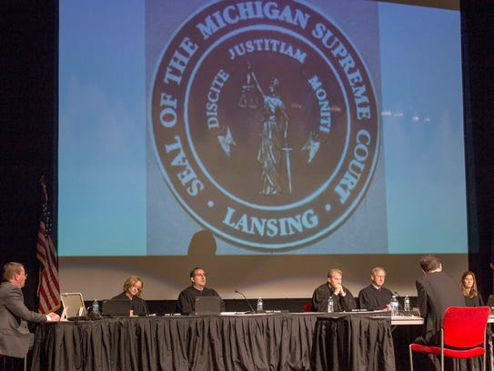 The Michigan Supreme Court hears oral arguments for