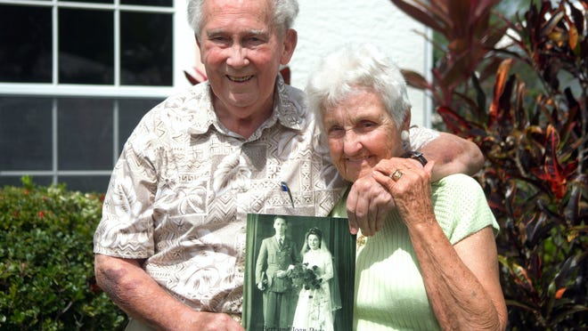 Bert and Joan Page were married March 17, 1945, and will celebrate their 70th anniversary Tuesday.