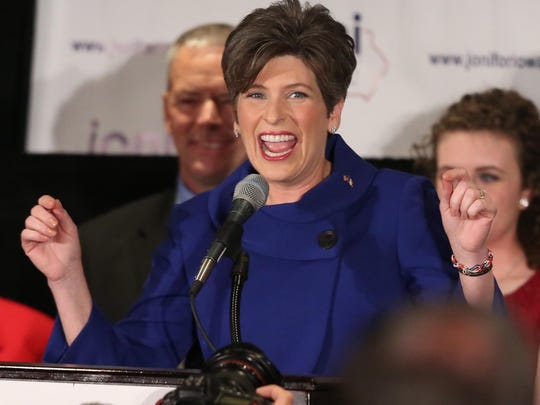 Joni Ernst, now Iowa's junior senator, thanks supporters