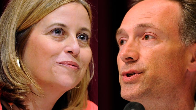 Nashville mayoral runoff election candidates Megan Barry and David Fox face off in the third Nashforward debate on Wednesday, Aug. 19.