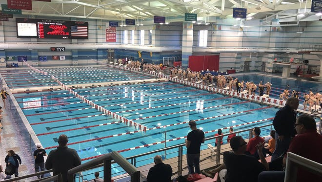 Miami University hosted the boys' DI district swimming meet.