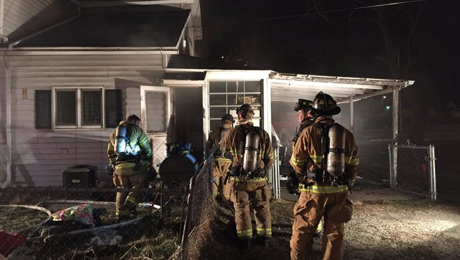 Newark firefighters have responded to a house fire on South Fourth St. this morning.