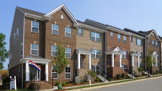 The townhomes planned at Burkitt commons will look like these at the High Point community in Brentwood.