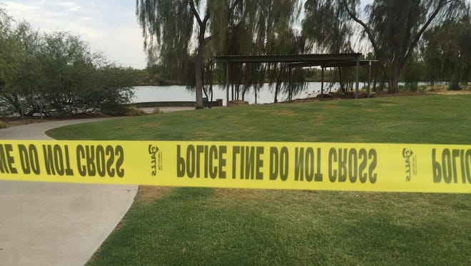 Police searching for a missing woman at the Riparian Preserve at Water Ranch in Gilbert discovered a body in a pond there the afternoon of June 10, 2016.